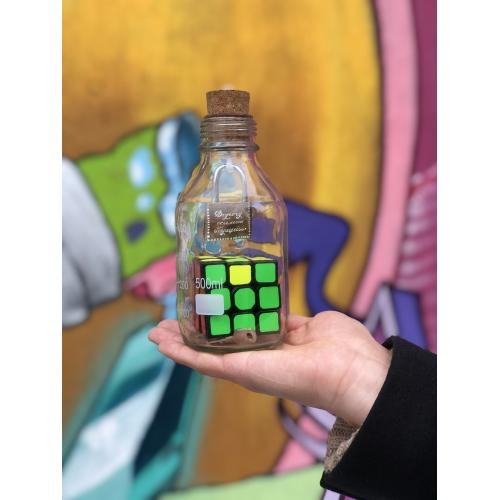 Rubik's cube in a bottle aka Impossible bottle