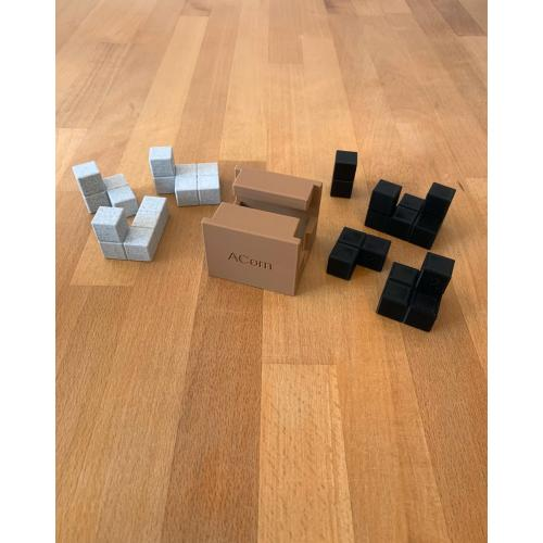 ACorn 1 & 2 ARCparent Cube Puzzle - Rotational 3D Printed Packing Puzzles (Andrew Crowell)