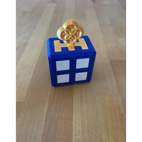 Skeleton Key - Gold - 3D Printed Puzzle (Andrew Crowell)