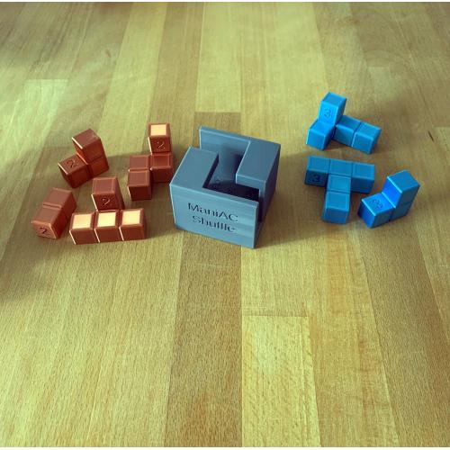 ManiAC Shuffle 2 & 3 - ARCparent Cube Series - 3D Packing Puzzles (Andrew Crowell)
