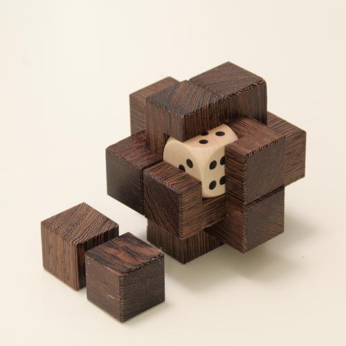 Clamped Cubes (Wenge, small)